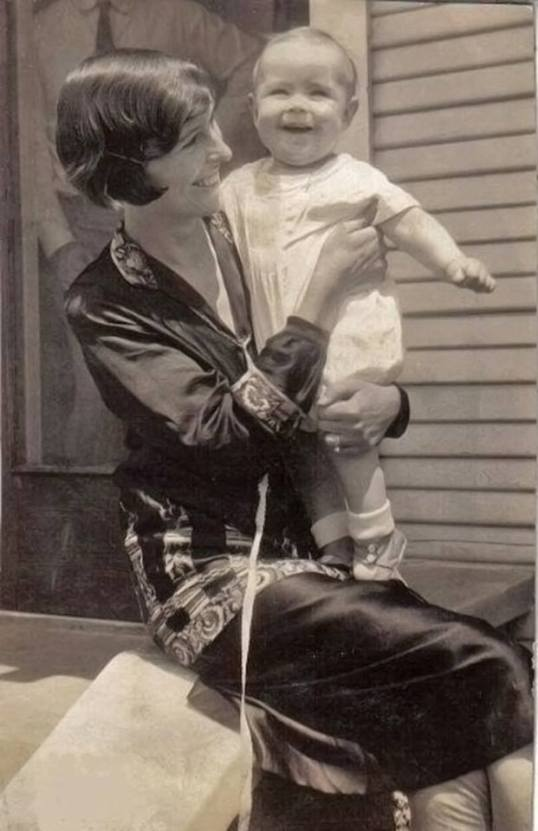 A mother with her child in 1926. There's a universality pouring through this photo as well.