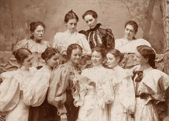 These young women are at St. Mary's College in Dallas, Texas in the year 1898.