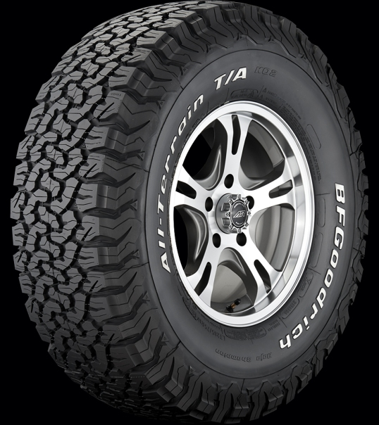 You say you want lots of biting edges? You got it. The BFG All-Terrain T/A KO2.