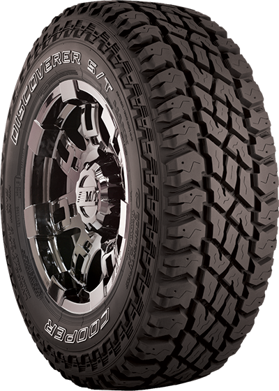 Bigger voids between the tread lugs mean better traction off-road.
