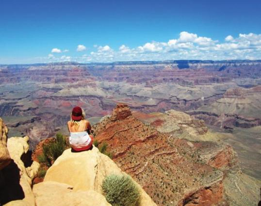 I'm always impressed when I see this kind of thing, since photographs from the 19th century show the same thing. It must be exhilarating. On average 2-3 people fall over the edge of the Grand Canyon. Few are suicides. If it isn't carelessness + whoops, it's instinctive imbalances, like grabbing for a hat blowing off your head. They have a helicopter-based rescue crew to recover bodies, though if no one saw you fall, the condors find you first.