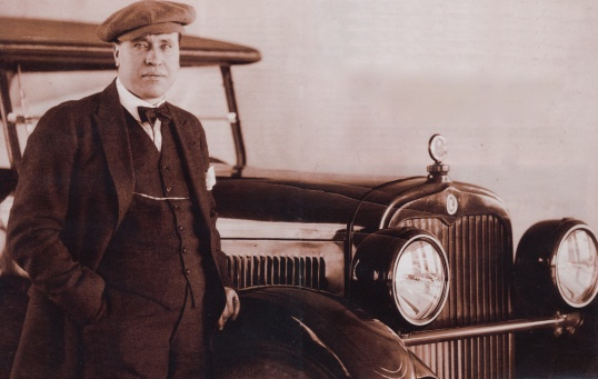D. McCall White, prominent automotive engineer, circa 1920. (The limitations of the photographic film most widely used at this time included an inability to capture blue eyes well.)